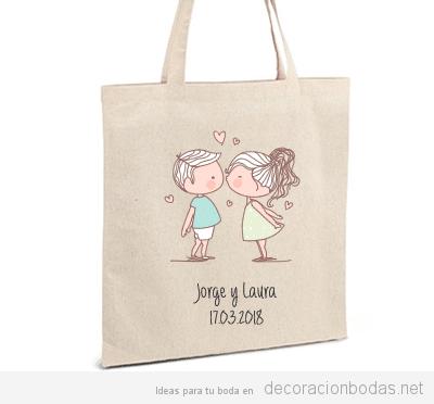 Detalles boda personalizados bolsa
