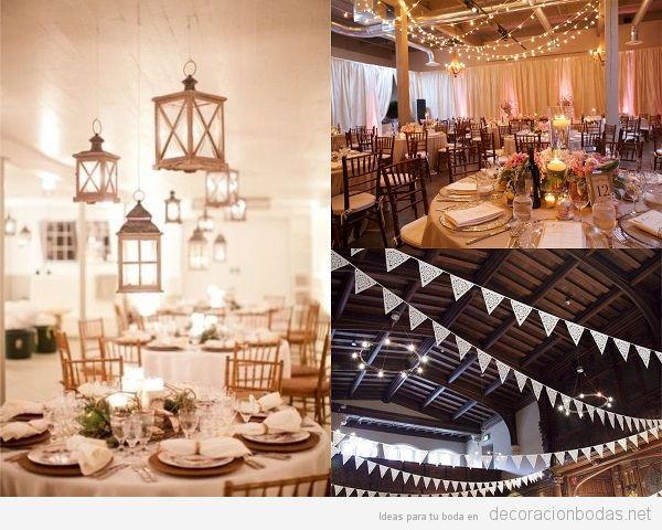 iluminación decoración boda vintage