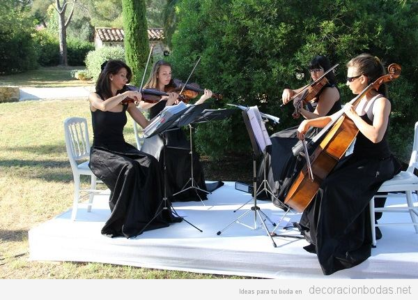 Música para bodas con cuarteto de cuerda