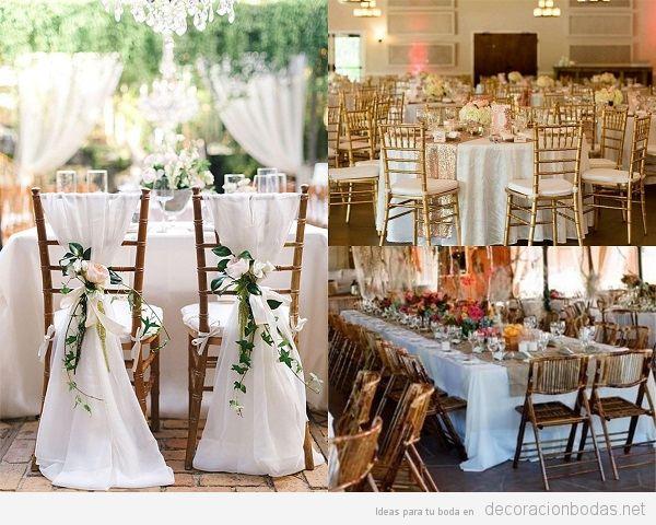 Sillas de madera boda vintage