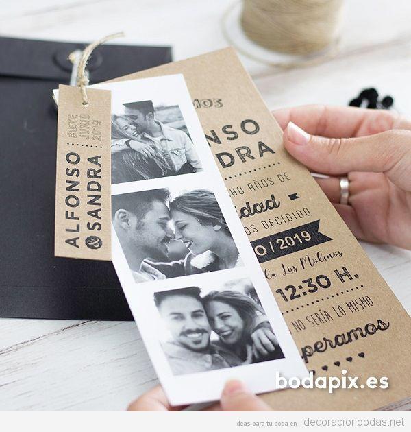 Invitaciones de bodas diseñadas con muuuucho cariño