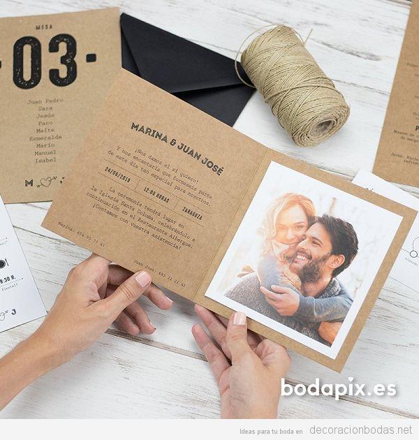 Invitaciones de boda con fotos 3