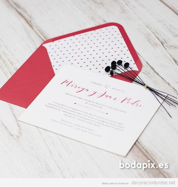 Invitaciones de boda románticas