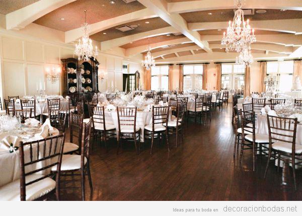 Salones de bodas con suelos de madera, una tendencia exclusiva