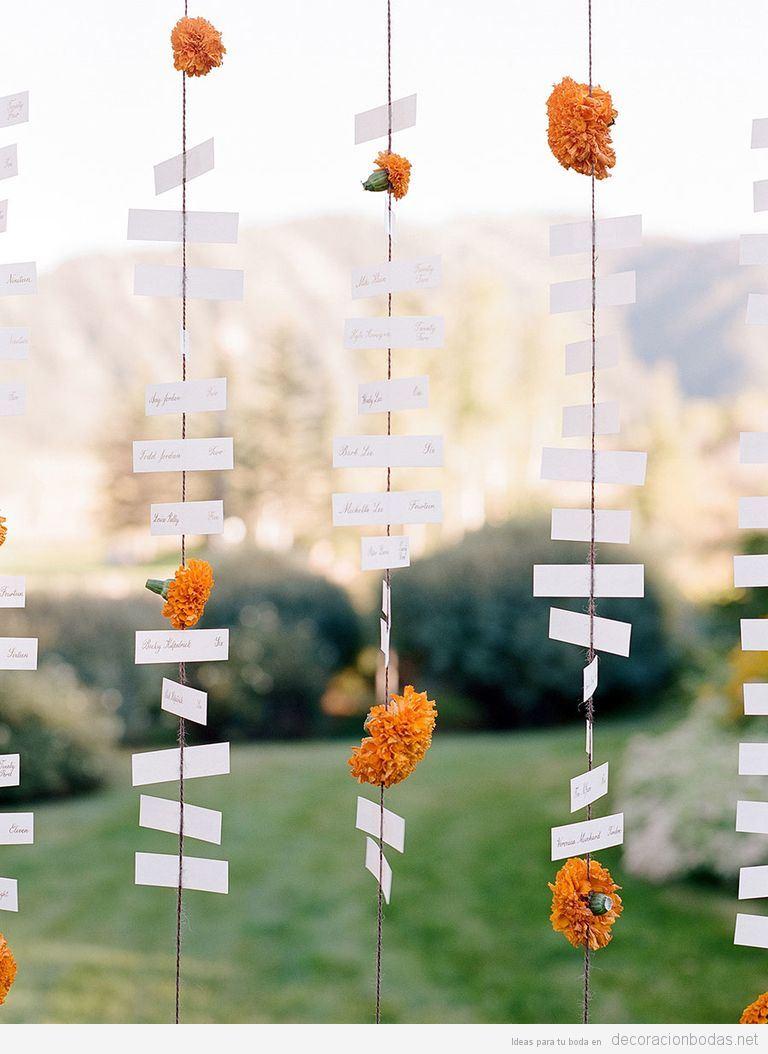 Tendencias decoración de bodas 2017 colgantes