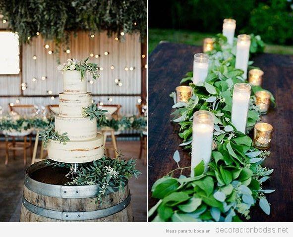 Tendencias decoración de bodas 2017 verde