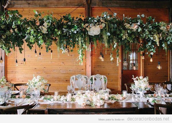 Tendencias decoración de bodas 2018 centros mesa
