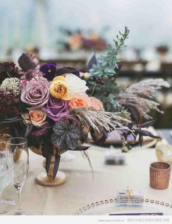 Tendencias decoración boda 2018 flores oscuras