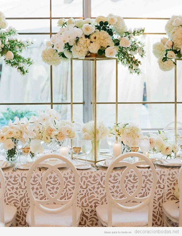 Tendencias decoración boda 2018 manteles texturas
