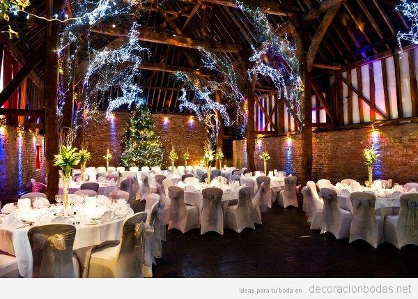 Decoración salón boda Navidad 4
