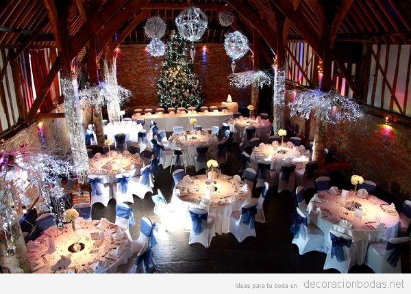 Decoración salón boda Navidad 3