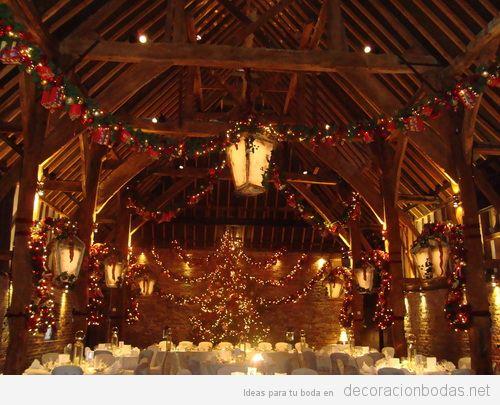Cómo decorar una boda en Navidad