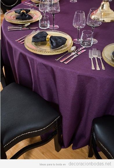 Decoración boda color pantone año 2018 ultra violet
