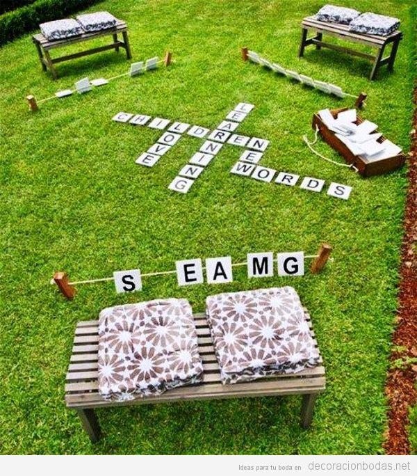 Juegos para boda palabras cruzadas