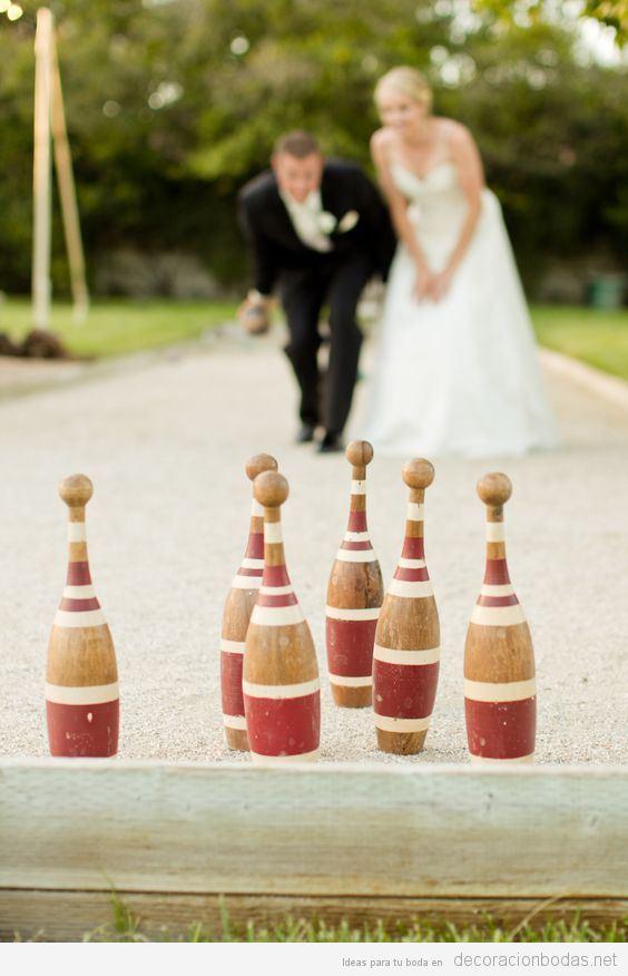Juegos para boda bolos