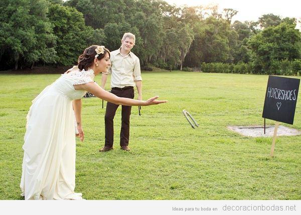 Juegos para boda herradura