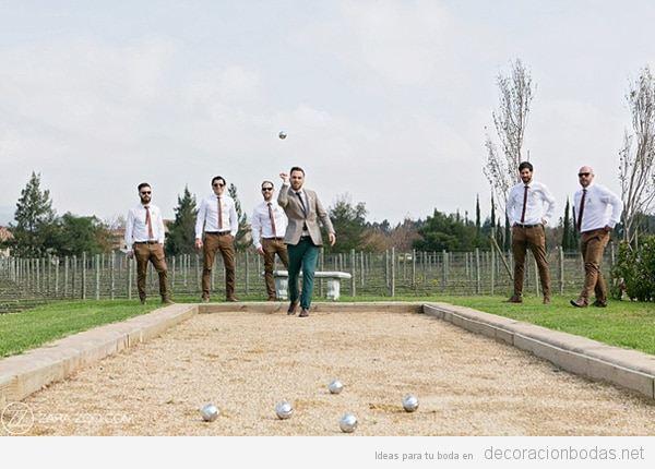 Juegos para boda petanca