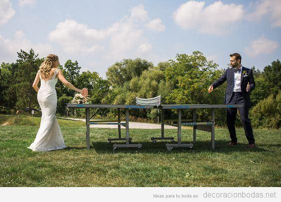 Juegos para boda ping pong