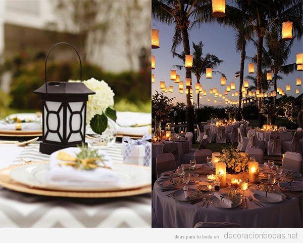 Tendencias decoración de boda verano 2018 farolillos repelente mosquitos