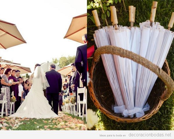 Tendencias decoración de boda verano 2018 sombrillas y parasoles