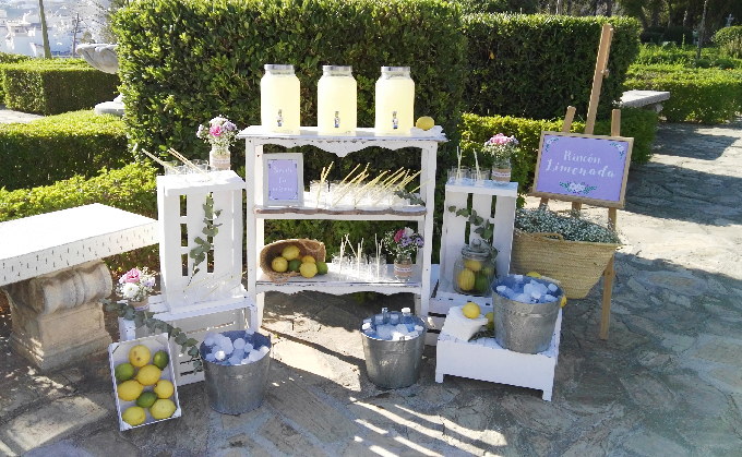 Ideas originales boda 2018 puesto de limonada