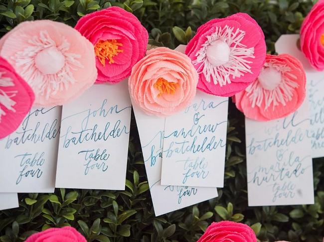 Plano mesas boda flores papel