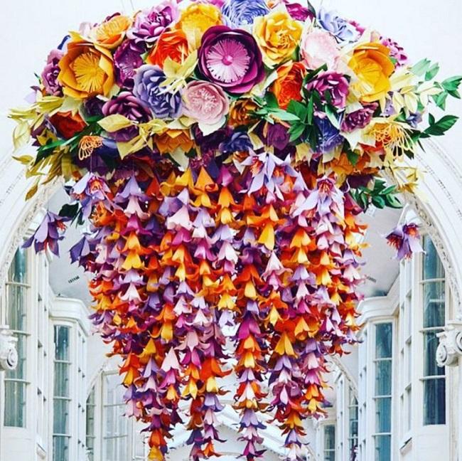 Flores de papel para decorar una boda: artesanía y belleza eterna