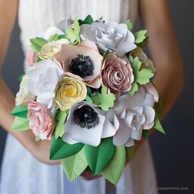 Ramo novia flores papel