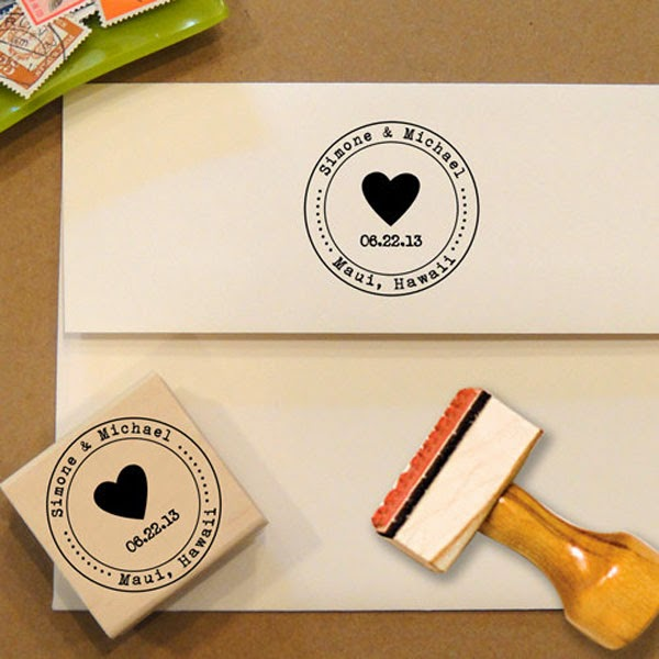 Sellos para marcar tus tarjetas de bodas
