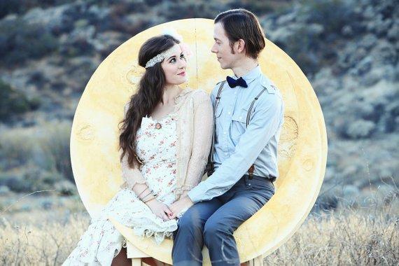 Boda con temática de luna llena, ¡muy romántica y bonita!