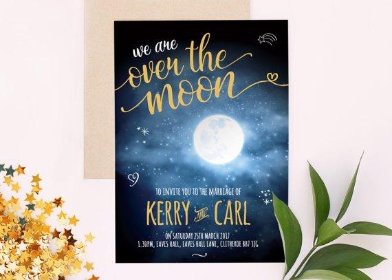 Invitaciones de boda luna llena