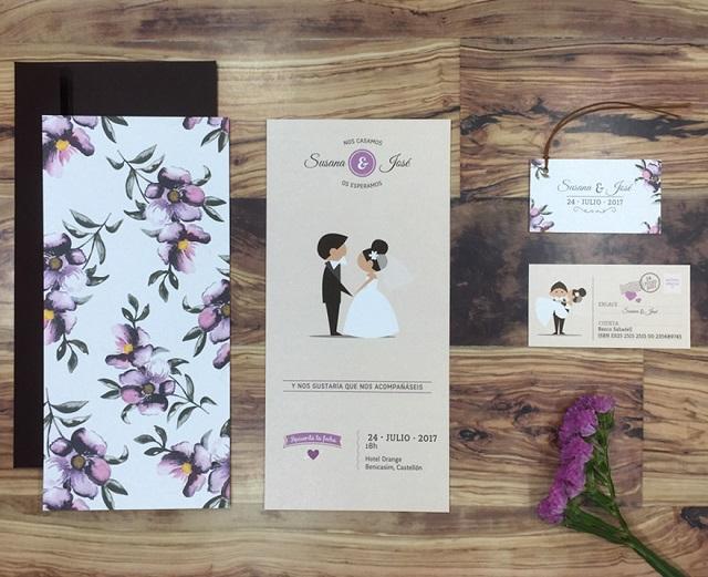 Tarjetones de boda originales 3