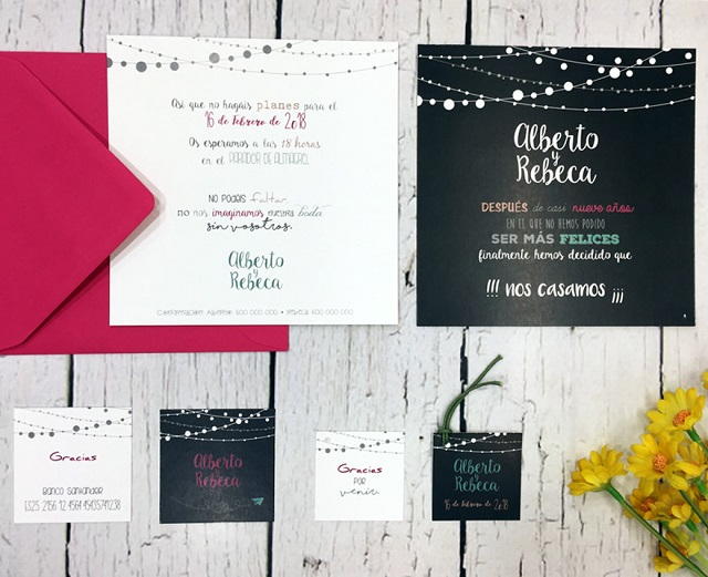 Tarjetones de boda originales 11