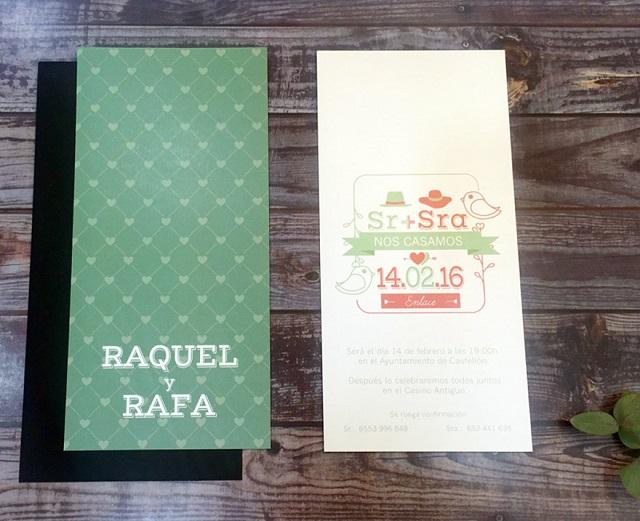 Tarjetones de boda originales 4
