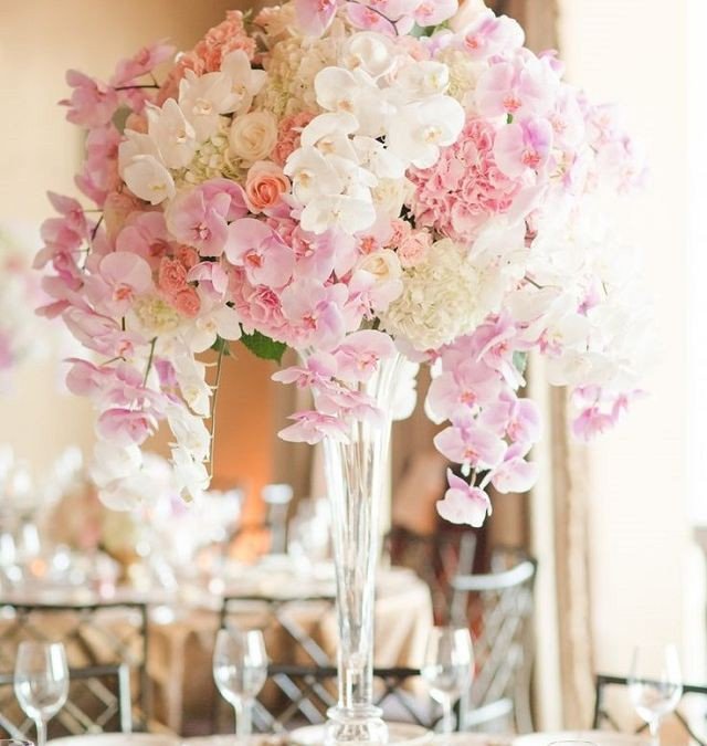 Una boda de color de rosa
