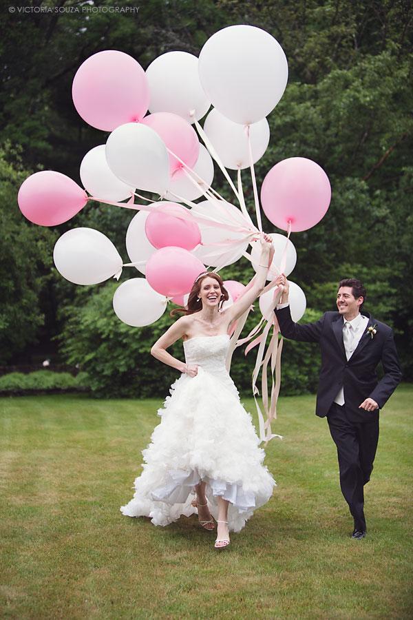 Globos rosas boda