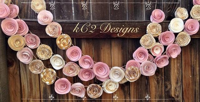 Guirnaldas rosas boda