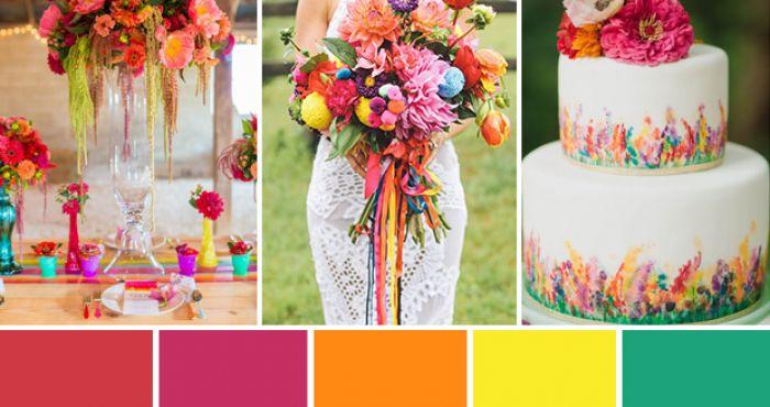 Cómo preparar una boda colorida
