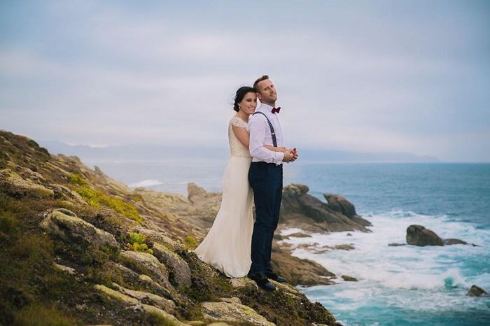 Fotografías de boda que muestran la unión de la pareja con la naturaleza
