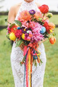 Ramos de novia coloridos