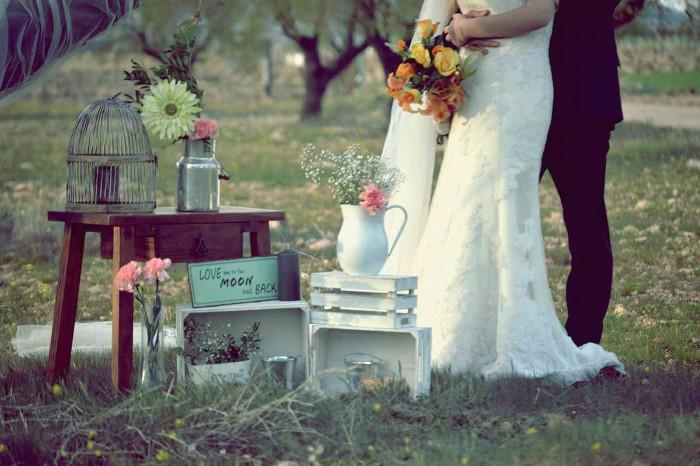 Decore o casamento rústico e vintage ao ar livre 6