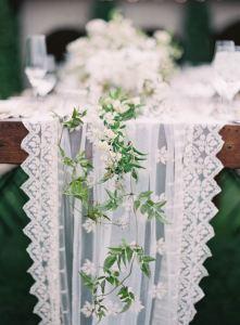 Camino mesa encaje boda 2