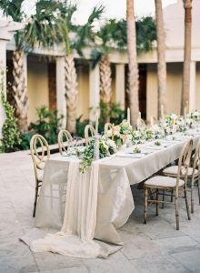 Camino mesa boda