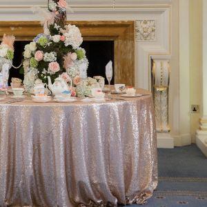 Mantel mesa boda lentejuelas