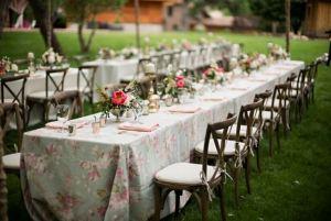 Mantel mesa boda flores