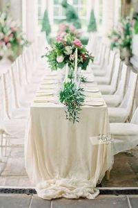 Mantel mesa boda beige