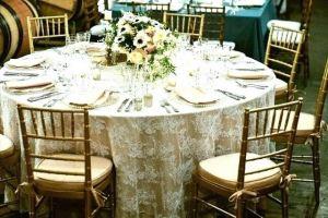 Mantel mesa boda encaje