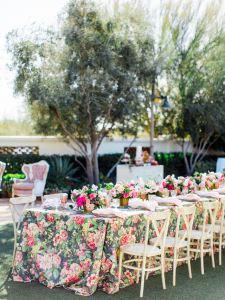 Mantel mesa boda flores 2