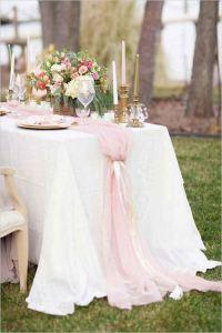 Mantel mesa boda hasta el suelo