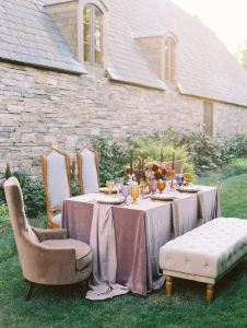 Mantel mesa boda terciopelo